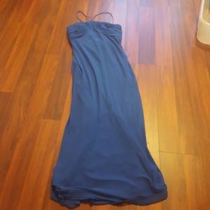 Formal sleeveless blue dress